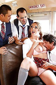 Horny Schoolgirl On The Bus