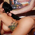 Tattooed Latina Gets Pounded - free porn