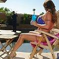 MILF In Bikini Bangs Son's Friend - free porn