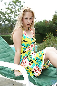 Miss Goldie Gets Naked Outdoors