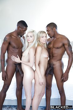 Elsa Jean  and Zoe Monroe Big Black Cock Foursome