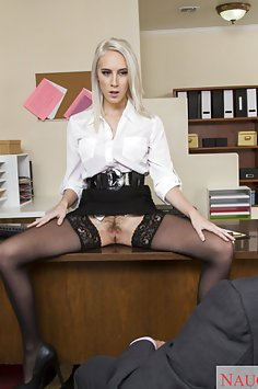 Cadence Lux Office Slut