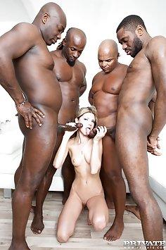 Gina Gerson in hardcore interracial gangbang