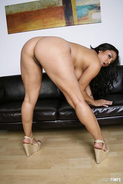 Adrianna luna masturbates at the dinner table 4