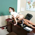 Spoiled shoolgirl makes her teacher eat her wet tight pussy - image