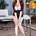 Wild Office Threeway With Julia Ann and Olivia Austin - image