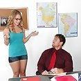 Katie Zane Bangs The Teacher On His Desk - image