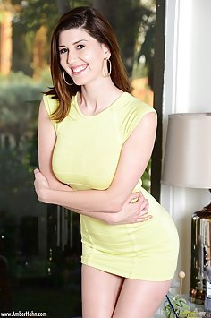 Skin Tight Yellow Dress