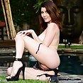 Amber Hahn Loses Her Tiny Bikini - image