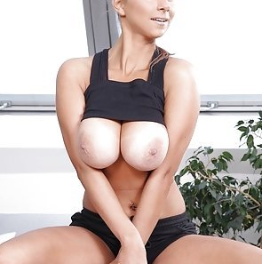 Busty Hotty Exercises and Fucks