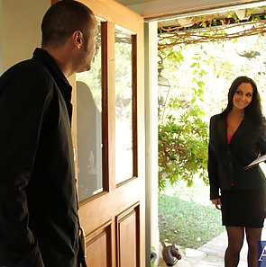 Cougar Goes Door To Door and Cock To Cock