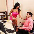Hot Latina Office Lady Fucks The New Guy - image