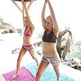 Sierra Navadah and Dani Desire Do Naked Yoga - image