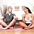 Yummy Latina Does Sexy Yoga on a Cock - image