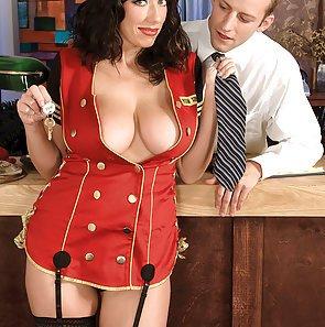 Busty Alia Janine Front Desk Fling