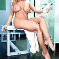 Amber Lynn Bach Locker Room Bending Over - image