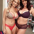 Two Hot Busty Babes At Play - image