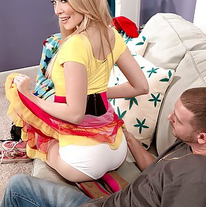 Hot Little Blond Felt up and Fucked