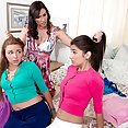 Teen Lezzie Three-way With A Milf - image