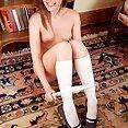 Cute Schoolgirl Gets Naked - image