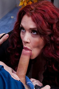 Redhead Sucking Cock and Work and Loving It