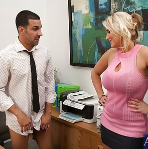 Titty Fucking At the Office