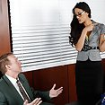 Hot Brunette Secretary Puts Out - image