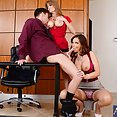 Milf Office Threesome - image