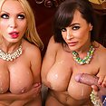 Lisa Ann and Nikki Benz Relaxing With Cock - image