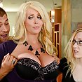 Mother In Law Alura Can Deep Throat His Meat - image
