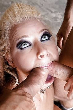 Anikka Albrite Takes On Two cocks