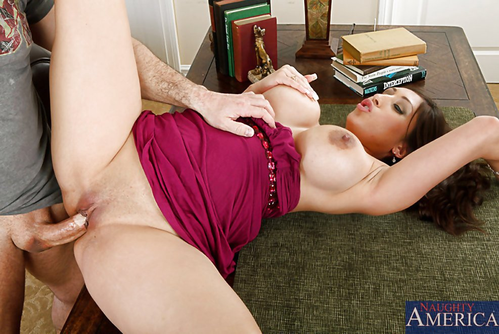 Busty latina gets pussy pounded