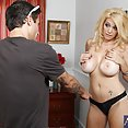 Busty MILF Loves Younger Stud Cock - image