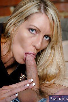Hot Blond MILF Loves Young Cock