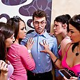 Fourway with Ann Marie Rios, Andy San Dimas, April O'Niel and Kristina Rose - image