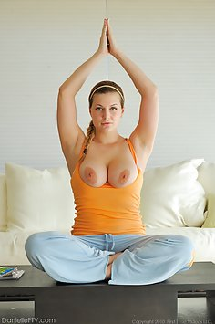 Danielle does some Sexy Yoga