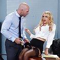 Blond Bitch Boss Gets Big Cock Bang - image