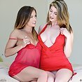 Amber Hahn and Kitty Purrz Play - image