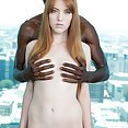 Tight Redhead Takes BBC Deep In Her Ginger Minge - image