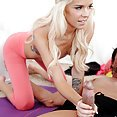 Hot Yoga Gets Even Hotter in a wild threeway - image