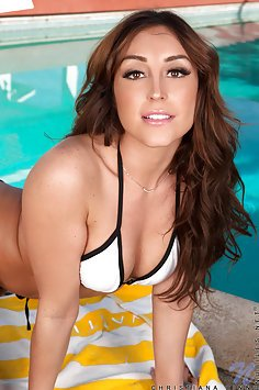 Leia Christiana naked By The Pool