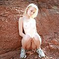 maddy rose gets off outdoors - image