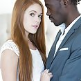 Red Head College Girl With Black Sugar Daddy - image