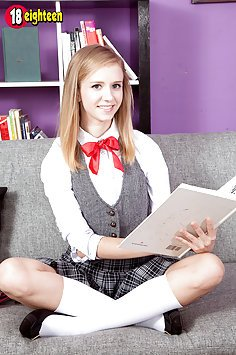 Rachel James Flashes Her Schoolgirl Panties and Tiny Tits