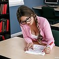 Nerdy Teachers Assistant Gets a Hot Fuck - image