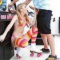 Pinball Loving Roller Girl Gets Fucked On Her Skates - image