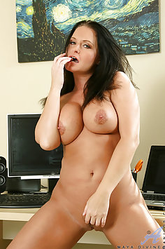 Maya Devine Naked Home Office Play