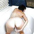 Cougar Bubble Bath Masturbation - image