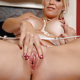 Hot Blond Fucks Her Sex Toys - image