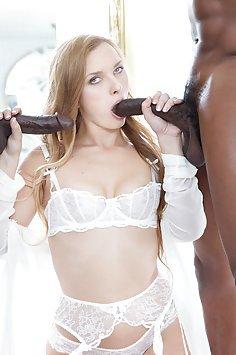Layna Landry Takes On Two Big Black Cocks